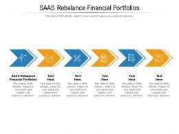 Saas Rebalance Financial Portfolios Ppt Infographic Template Professional Cpb