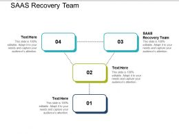 SAAS Recovery Team Ppt Powerpoint Presentation Layouts Maker Cpb