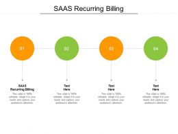 Saas Recurring Billing Ppt Powerpoint Presentation Outline Objects Cpb