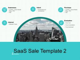 SaaS Sale Intent Ppt Powerpoint Presentation Infographic Template