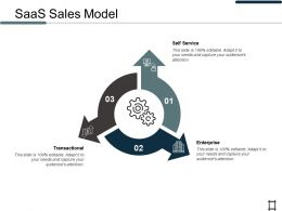 SaaS Sales Model Transactional Ppt Professional Information