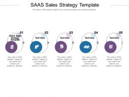 SAAS Sales Strategy Template Ppt Powerpoint Presentation Slides Example Cpb