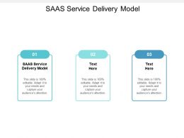 SAAS Service Delivery Model Ppt Powerpoint Presentation Summary Graphics Download Cpb