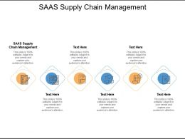 Saas Supply Chain Management Ppt Powerpoint Presentation Introduction Cpb