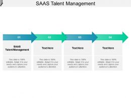 SAAS Talent Management Ppt Powerpoint Presentation Inspiration Gallery Cpb
