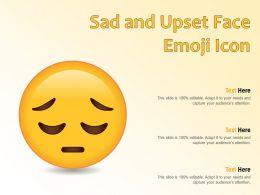 Sad And Upset Face Emoji Icon