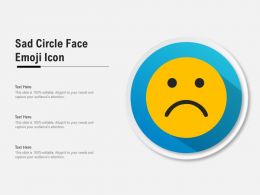 Sad Circle Face Emoji Icon