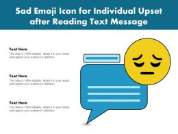 Sad Emoji Icon For Individual Upset After Reading Text Message