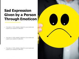 Sad Expression Given By A Person Through Emoticon
