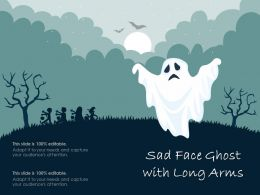 Sad Face Ghost With Long Arms
