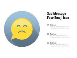 Sad Message Face Emoji Icon