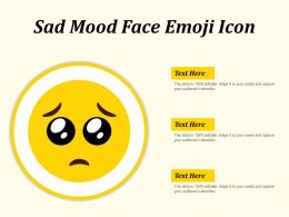 Sad Mood Face Emoji Icon
