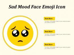 Sad Mood Face Emoji Icon