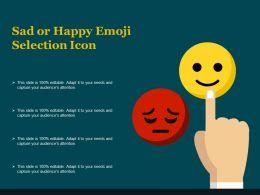 Sad Or Happy Emoji Selection Icon