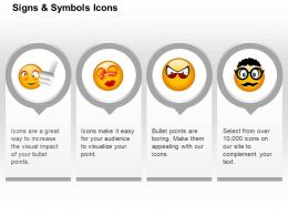 Sadness Love Anger Confuse Faces Ppt Icons Graphics