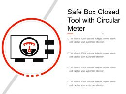 Safe Box Closed Tool With Circular Meter