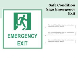 Safe Condition Sign Emergency Exit
