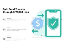Safe Fund Transfer Through E Wallet Icon