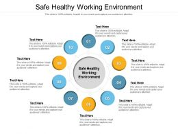 Safe Healthy Working Environment Ppt Powerpoint Presentation Pictures Portfolio Cpb