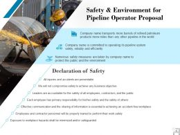 Safety And Environment For Pipeline Operator Proposal Ppt Powerpoint Presentation Inspiration