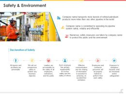 Safety And Environment Ppt Powerpoint Presentation Summary Infographic Template