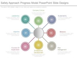Safety Approach Progress Model Powerpoint Slide Designs