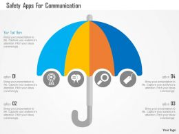 Safety Apps For Communication Flat Powerpoint Design