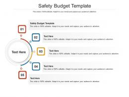 Safety Budget Template Ppt Powerpoint Presentation Infographic Template Images Cpb