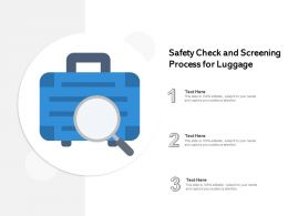 Safety Check And Screening Process For Luggage