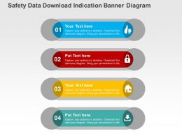 Safety Data Download Indication Banner Diagram Flat Powerpoint Design