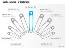 Safety Features For Leadership Flat Powerpoint Design