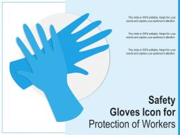 Safety Gloves Icon For Protection Of Workers