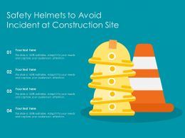 Safety Helmets To Avoid Incident At Construction Site