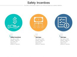 Safety Incentives Ppt Powerpoint Presentation Model Maker Cpb
