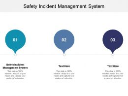 Safety Incident Management System Ppt Powerpoint Presentation Icon Show Cpb