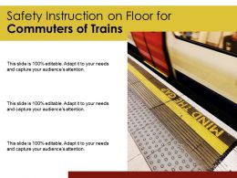 Safety Instruction On Floor For Commuters Of Trains