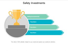 Safety Investments Ppt Powerpoint Presentation Gallery Shapes Cpb