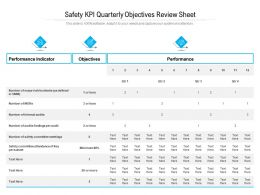 Safety KPI Quarterly Objectives Review Sheet