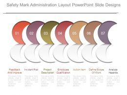 Safety Mark Administration Layout Powerpoint Slide Designs