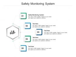 Safety Monitoring System Ppt Powerpoint Presentation Ideas Model Cpb