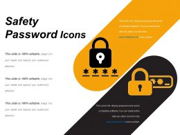 Safety Password Icons