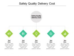 Safety Quality Delivery Cost Ppt Powerpoint Presentation Show Grid Cpb