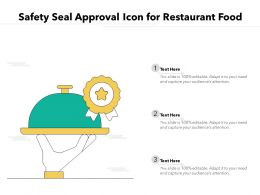 Safety Seal Approval Icon For Restaurant Food