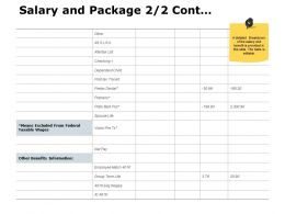 Salary And Package Cont Table J193 Ppt Powerpoint Presentation File Graphic Tips