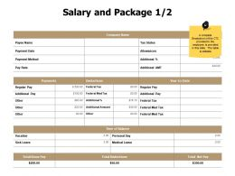 Salary And Package Management J22 Ppt Powerpoint Presentation File Grid