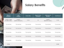 Salary Benefits Category Ppt Powerpoint Presentation Icon Example