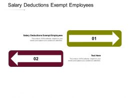 Salary Deductions Exempt Employees Ppt Powerpoint Presentation Introduction Cpb