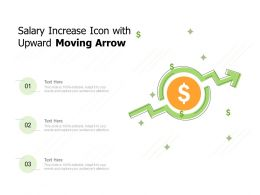 Salary Increase Icon With Upward Moving Arrow