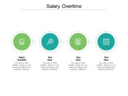 Salary Overtime Ppt Powerpoint Presentation Pictures Infographics Cpb