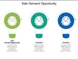 Sale Demand Opportunity Ppt Powerpoint Presentation Professional Introduction Cpb